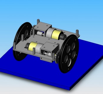 We developed a full CAD model before machining the final robot.